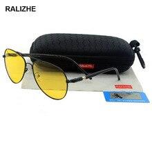 2019 Mens Womens Aviation Metal Alloy Polarized Yellow Night Vision Glasses Brand Designer Driving Anti Glare Lens Luxury Retro