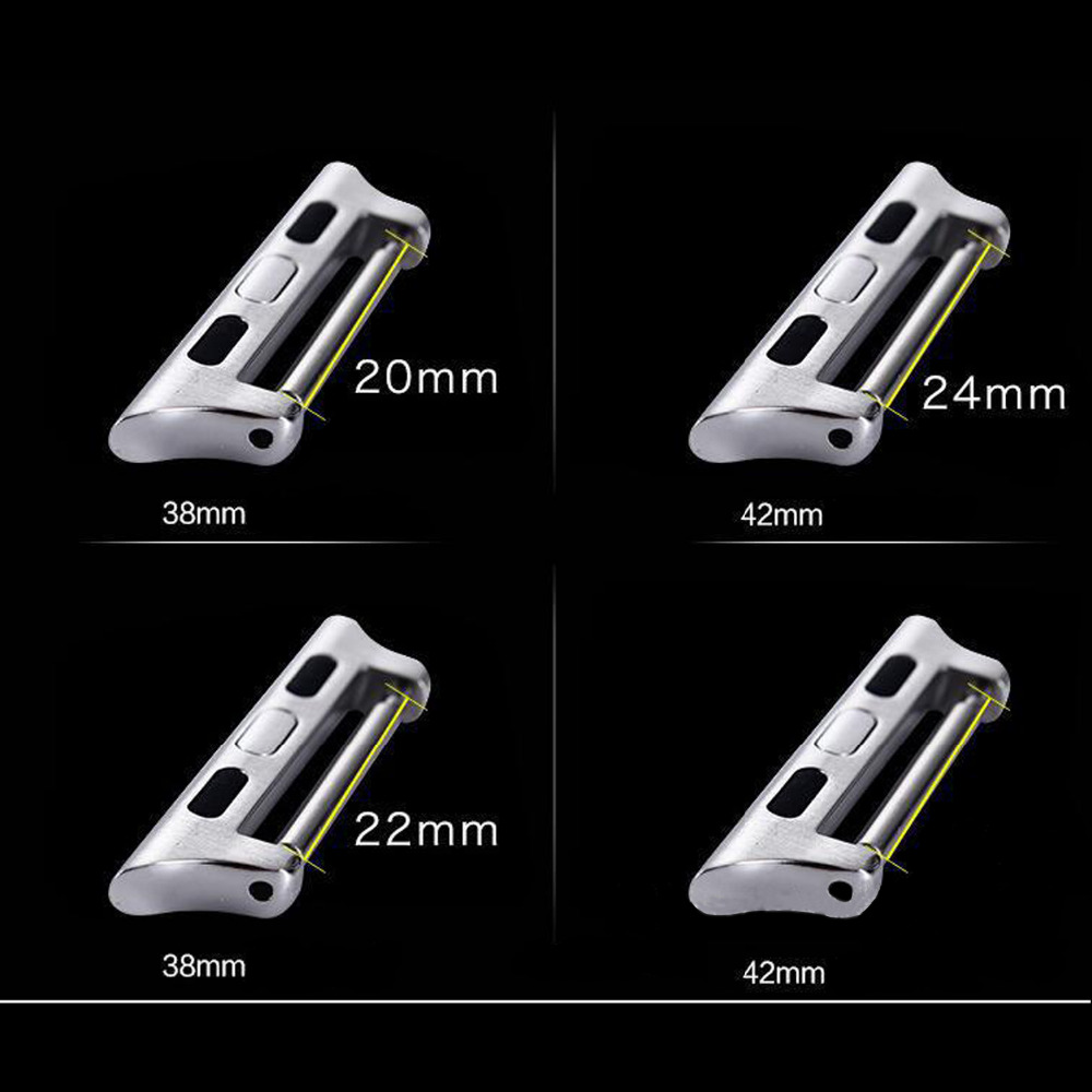Watch band Connector Adapter For Apple Watch 4 44mm/40mm iwatch 3 Strap 42mm/38mm Seamless Aluminum Watchband watch Accessories