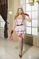 Halloween Dorosłych Gry Sexy Naughty Nurse Kostium Pielęgniarki Jednolite Pokusa Cosplay Role Play Seksowna Bielizna Zestaw