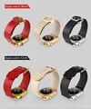 Diseño de lujo de la hebilla cuff pulsera banda de cuero genuino para apple ver Banda Ancha Correa Para La Muñeca iWatch Con Adaptadores de 38 MM 42 MM