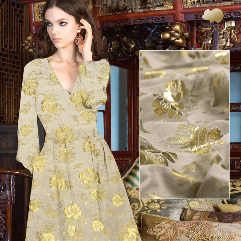 Tissu en coton de soie