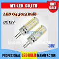 x10pcs  High Power SMD 3014 3W DC12V G4 LED Lamp Replace 30W halogen lamp 360 Beam Angle LED Bulb lamp warranty 2 years