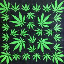 FOXMOTHER Hip Hop Punk Cotton Reggae Jamaica Green Weed Leaf Bandana Headwear For Mens