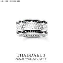 Черно-белое кольцо, Томас Стиль Glam мода хорошее украшение для женщин, Ts подарок в 925 пробы серебро, Супер предложения
