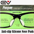 5 Pairs Silicone Nose Pads for Eyeglasses Anti-slip Black&Clear Glasses Nose Pads Almofadas Nariz Silicone de Oculos EV0359