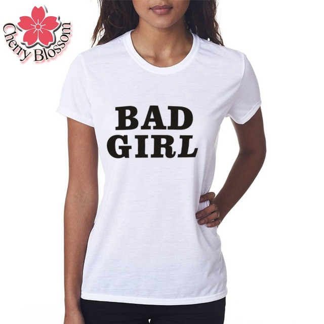 97b4353c Cerise Blossom Style D'été de Femmes T Shirt Femmes Tops Slim Fit MAUVAISE  FILLE