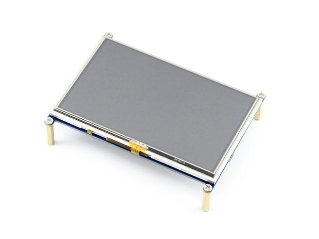 Raspberry Pi Lcd 5 polegadas 800*480 TFT Touch Screen Resistivo HDMI Interface para Todos Os Rev de Rapsberry pi (Ip 3) A/A +/B/B +/2 B
