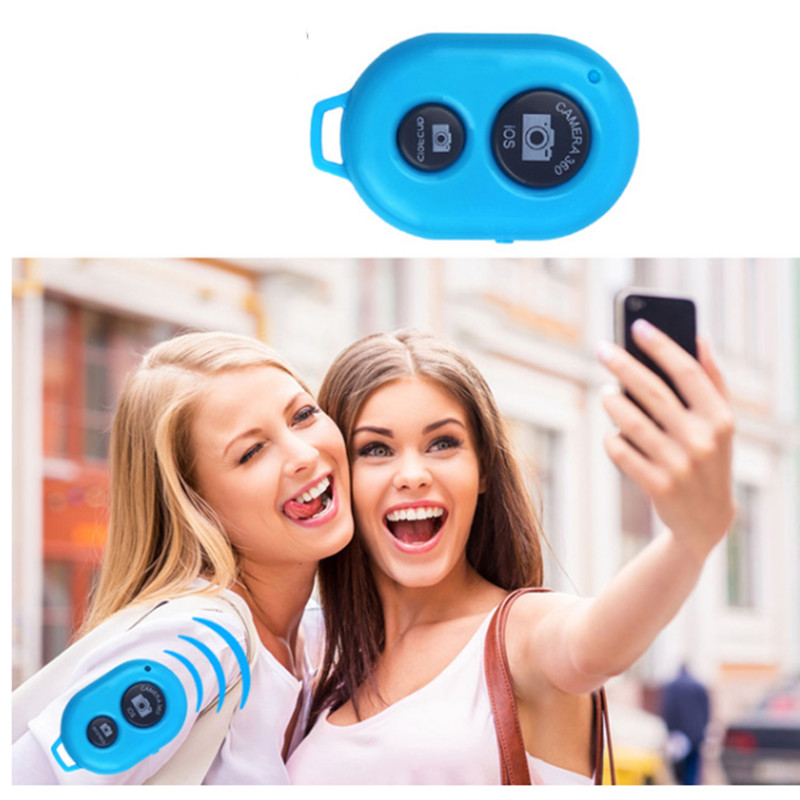 Universal Wireless Bluetooth Remote Shutter Control With Battery For Samsung Android Iphone IOS Smart Phone