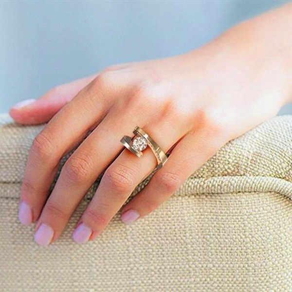 Luxo masculino feminino grande cristal anel de pedra 18kt amarelo ouro casamento jóias promessa anéis de noivado para homem e mulher