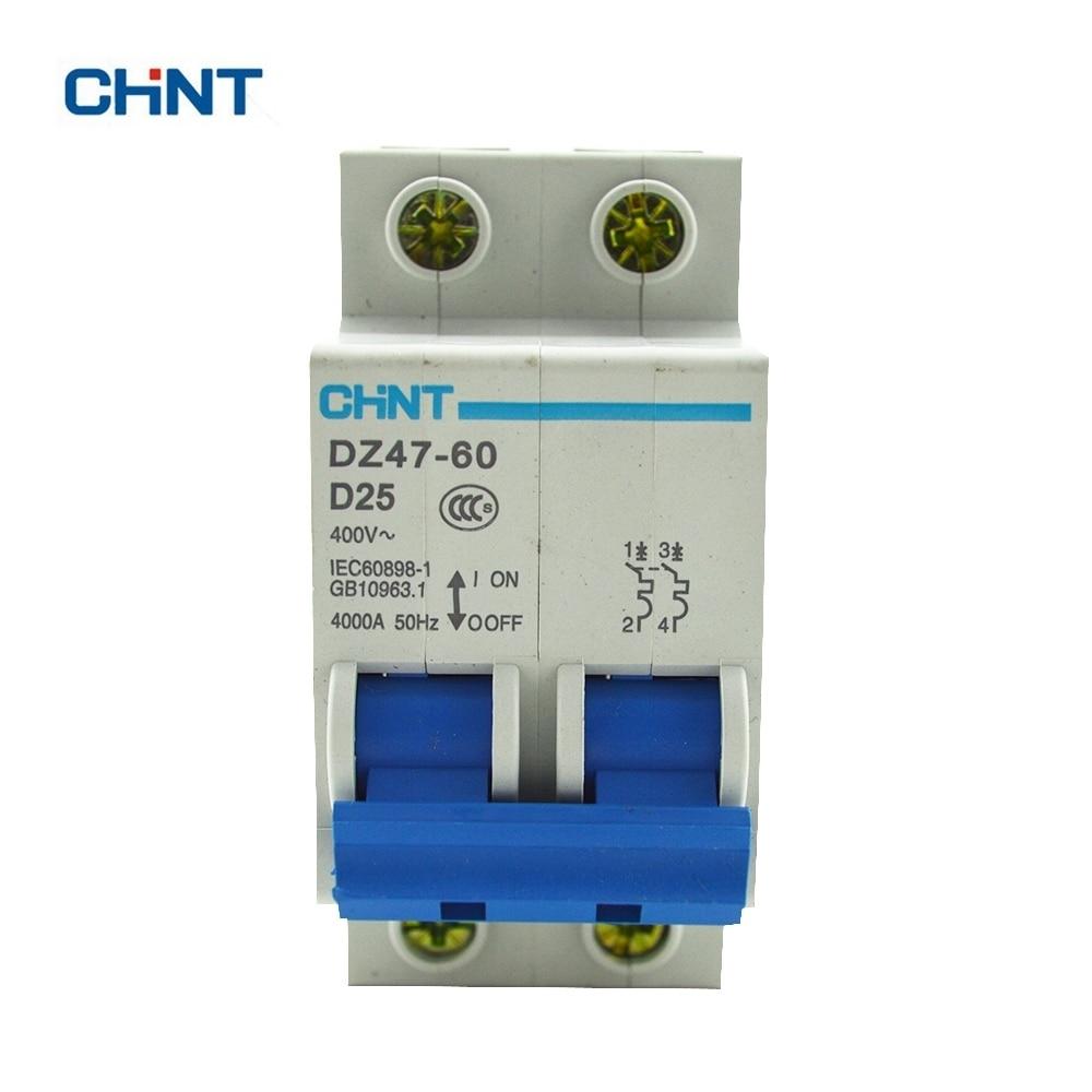 CHINT Dz47-60 Mini Circuit Breaker DZ47-60 2P D25