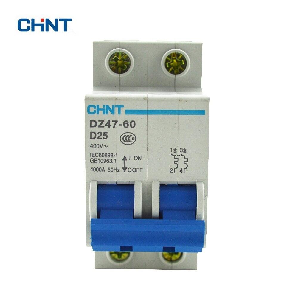 Chint Dz47 60 Mini Circuit Breaker 2p D25 Comprar Thing 5a 50 Juegos Sm 254mm Conector 2 P 3 4pin 5 Pines Con Caja