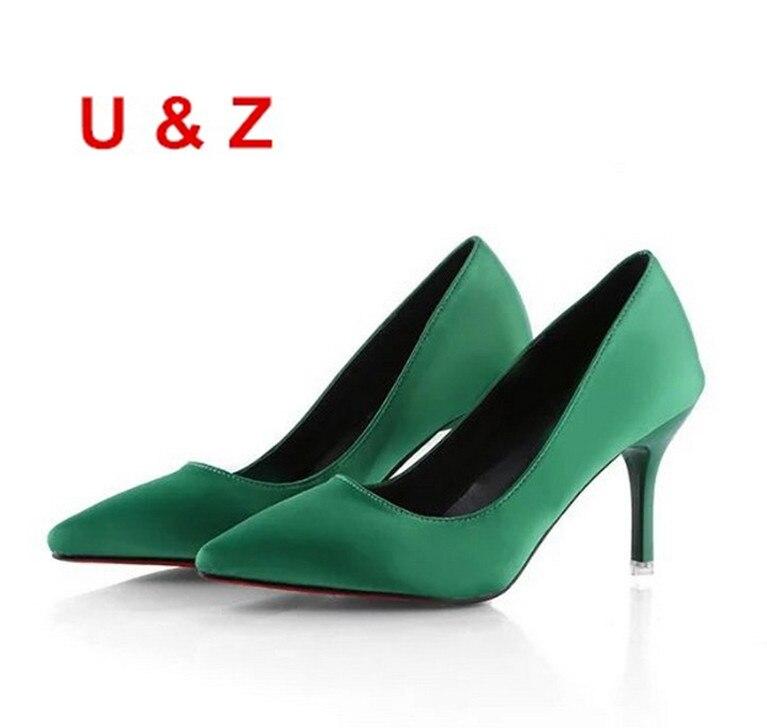 Весенне летние шелковые атласные свадебные туфли на каблуке «рюмочка» 75 мм женские вечерние туфли на низком каблуке серого/розового/черног