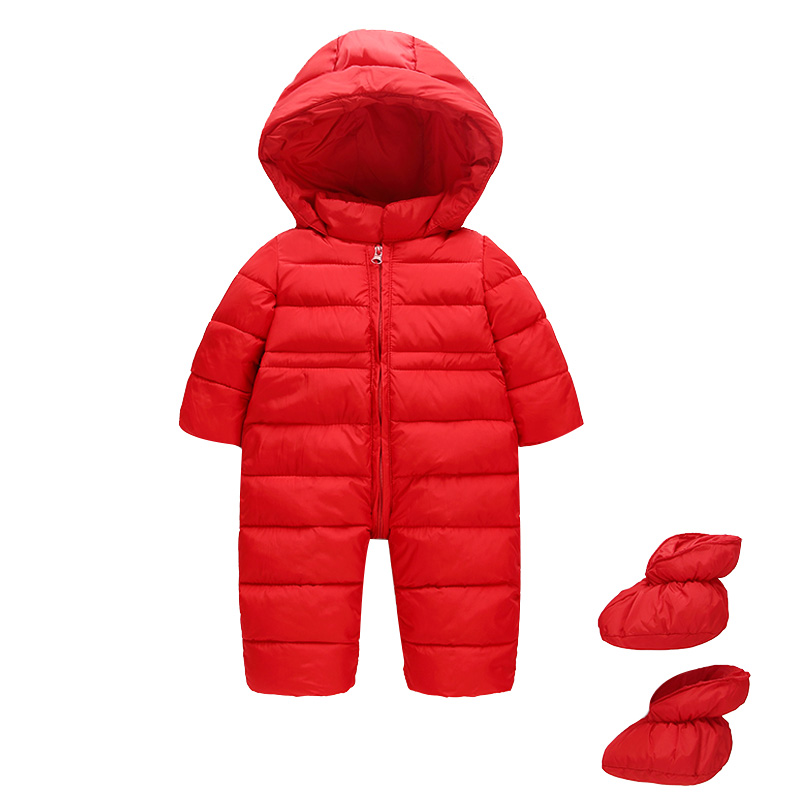 Cold Winter Rompers Baby Clothes Children Boys Girls Jumpsuit Kids Duck Down Cotton Overalls snowsuit Hoodies Parka Clothing 2018 newborn baby girls boys snowsuit down cotton baby rompers hoodies overalls clothes kid children jumpsuit winter warm