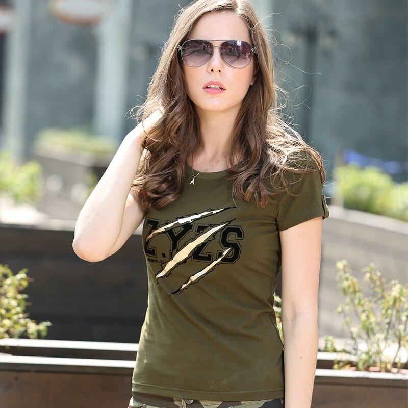 Ljeto Modne Dame Majice Majice Žene Vojska Zelena O Vrat pamuk Marka - Ženska odjeća - Foto 4
