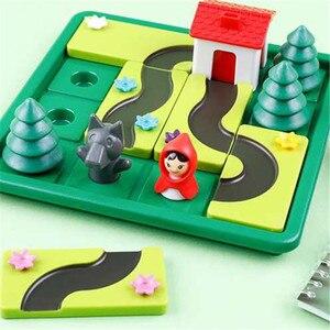 Image 4 - Pouco vermelho equitação capô inteligente iq desafio jogos de tabuleiro quebra cabeça brinquedos para crianças com solução inglês speelgoed brinquedo oyunc51