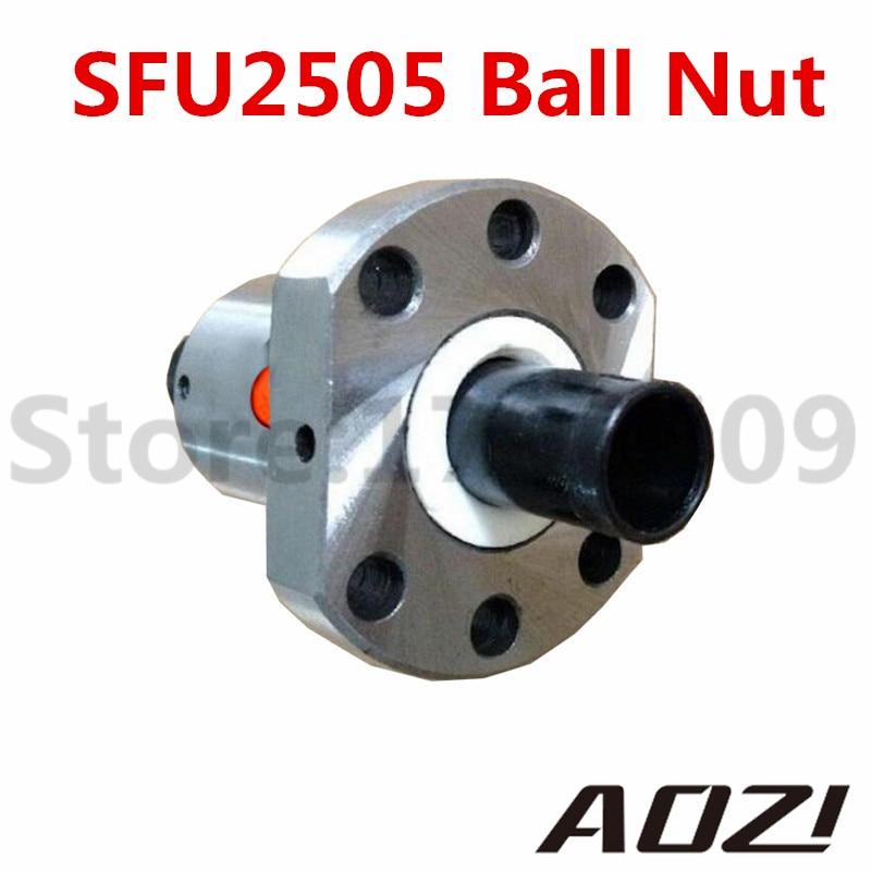 1pc SFU 2505 RM 2505 Anti Backlash Ball Nut Ballnut For 2505 Ballscrew Free Shipping