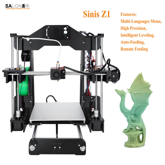 Sinis Z1 Remote Feeding Multi-language 3d Printer DIY Kit Easy Control Acrylic Frame Impressora 3d High Quality Lead Screw