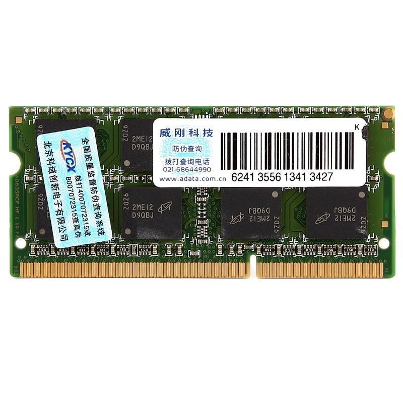 ADATA DDR3 DDR3L 4GB 8GB 1600MHz Ram Memory 204 Pin SO-DIMM 1333 PC3L-12800 For SONY Acer SAMSUNG Dell HP Lenovo ThinkPad Laptop