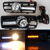 One Pair Day Running Lights Front Fog Light Lamp Lower Grill Lower Grille Auto Racing Grills