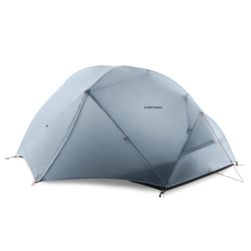 Acampanada CREED 2 personas 4 temporada tienda de campaña al aire libre ultraligero senderismo mochila caza tienda impermeable 15D silicona Tenten