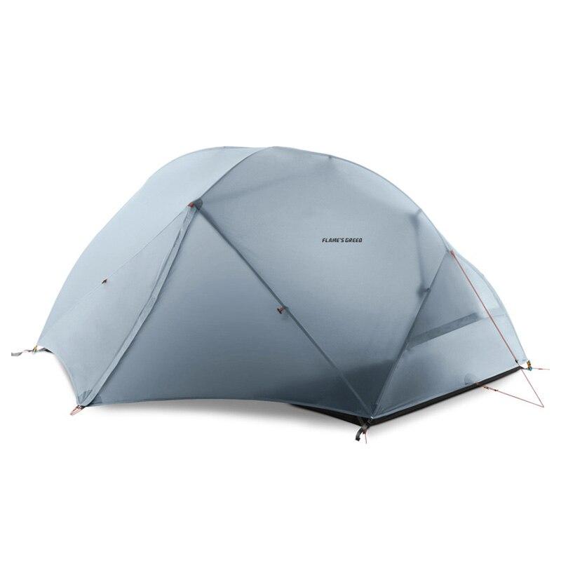FLAME'S CREED 2 Personne 4 Saison tente de camping En Plein Air Ultra-Léger sac à dos de randonnée Chasse Étanche Tente 15D Silicone Tenten
