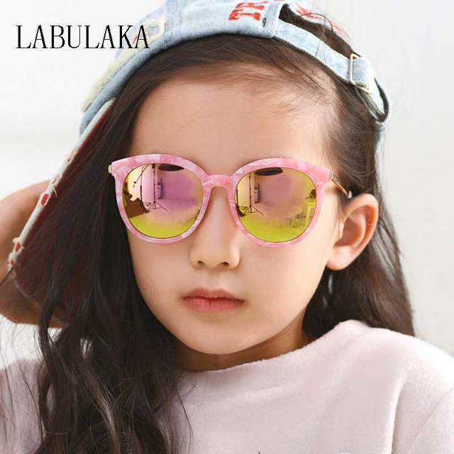 f52e02391e Fashion Kids Sunglasses Vintage Round Sun Glasses for Girls Boys Children  Alloy Frame Glasses Retro Lens
