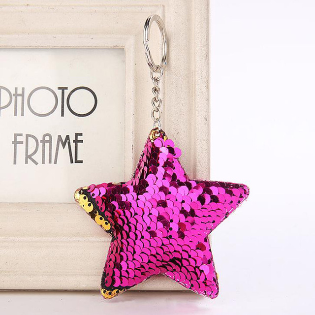 Colorful Soft Sequin Keychain