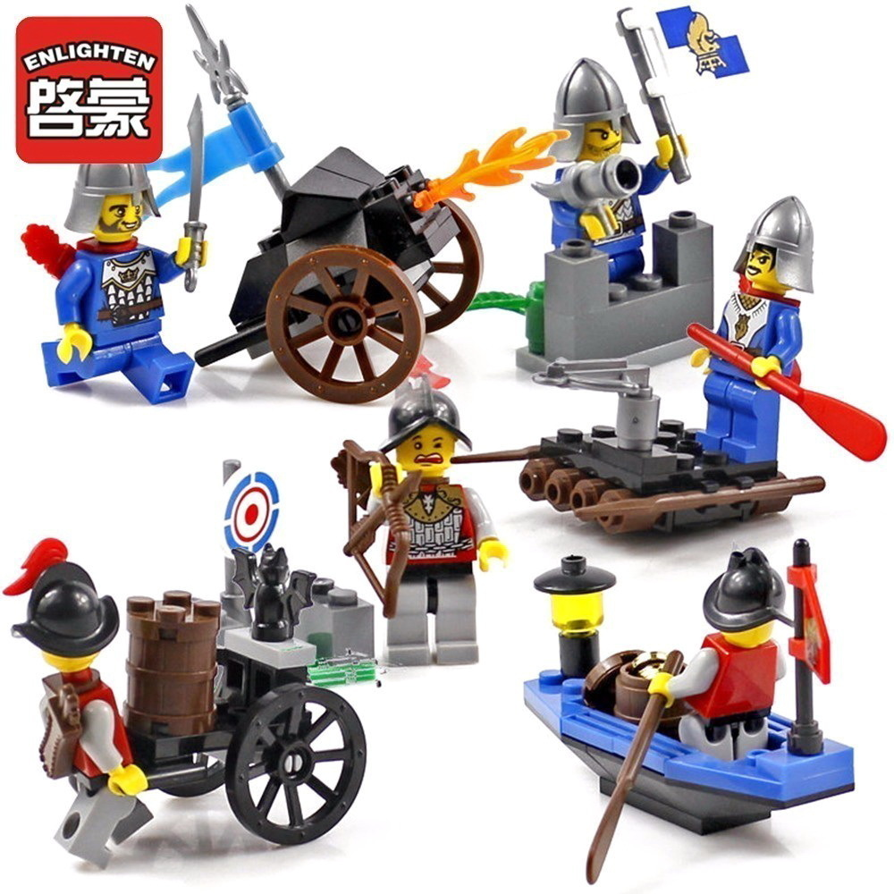 Enlighten Castle Educational Building block Blocks Toys For Children Gifts Knight Fun assembling granule Blocks