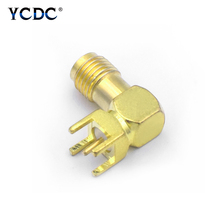 цена на 1/2/4 Pieces SMA-KWE SMA Female Jack Adapter PCB Mount Thru Hole Connector Antenna Manufacture Microwave Equipment Accessories