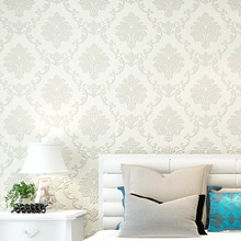 European luxury 3d  Damascus embossed wallpaper non-woven bedroom living room TV background wall