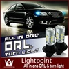 GuangDian 10 Sets Car Accessories LED Lamp DRL DC12V Daytime Running Light Front Turn Signals Auto