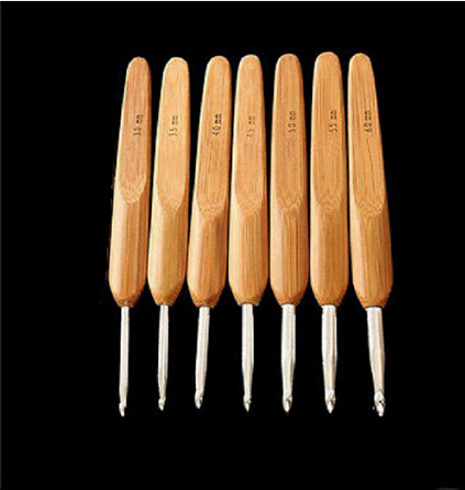 3.0mm 6.0mm 7pcs/Set 7 sizes Metal Crochet Hook Carbonized ...