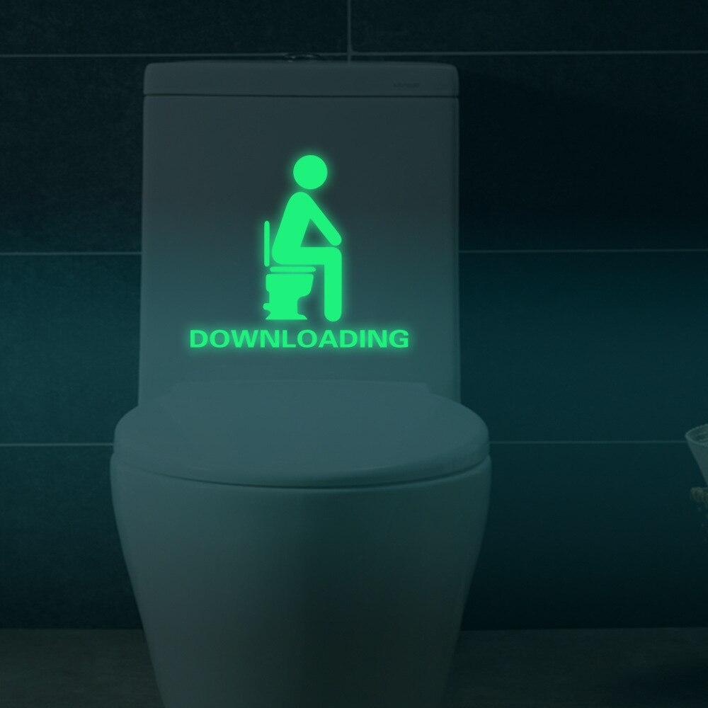 Ванная комната световой Туалет Наклейки комнаты мышление муур Наклейки Домашний Декор светятся в темноте Наклейки