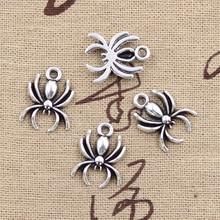 99Cents 12pcs Charms spider halloween 17*14mm Antique Making pendant fit,Vintage Tibetan Silver,DIY bracelet necklace