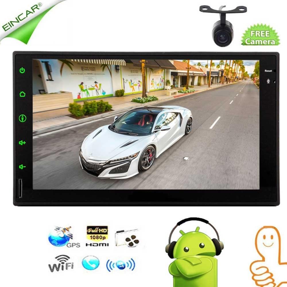 Double 2 Din autoradio stéréo Quad Core Android 6.0 Wifi lecteur Audio vidéo dans le tableau de bord GPS navigateur coloré porte-clés lumières nous soutenir