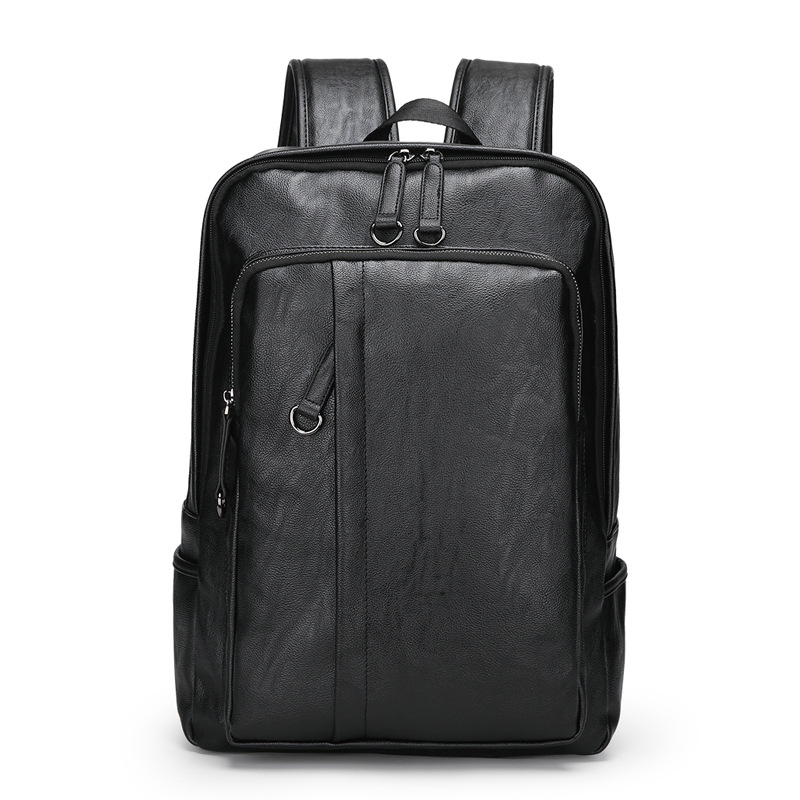 2019 JIULIN Men's Bag Fashion Leisure Leather Men's Shoulder Bag Large Capacity Computer Bag Backpack(China)