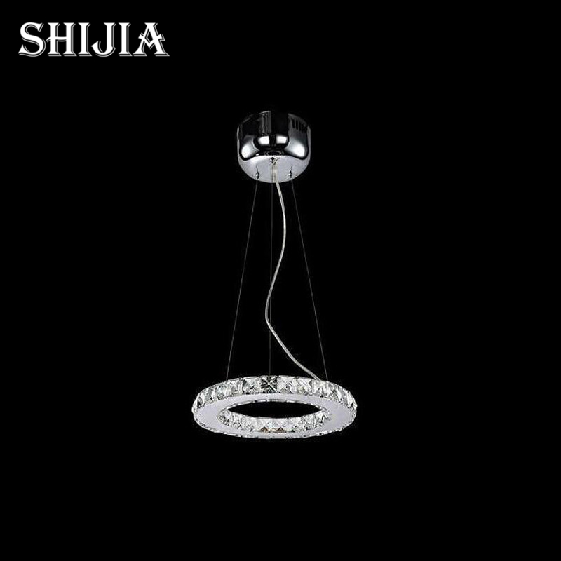 Hot Sale Diamond Single Ring LED Crystal Chandelier Light Modern Pendant Lamp Circles 100% Guarantee Dia20cm hot sale diamond ring led crystal chandelier light modern pendant lamp 100