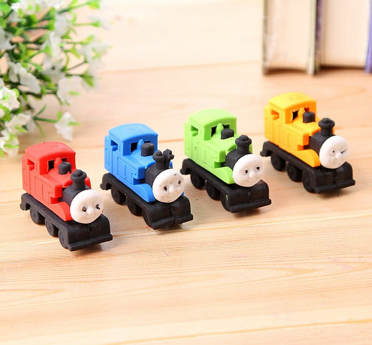4pcs/lot  Kawaii Car Design Eraser  Students' Gift Prize Kids's Puzzle Toy Office School Stationery Supplies