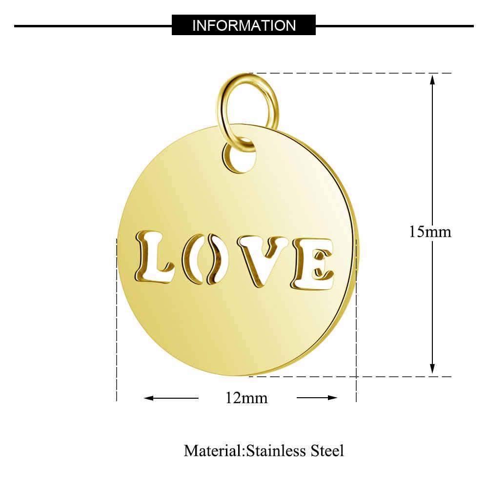 5 шт./лот, 316L, нержавеющая сталь, сердце, подвески, 100% сталь, ручная работа, любовь, тег, сделай сам, ювелирные изделия, поиск, принадлежности, ожерелье, подвеска