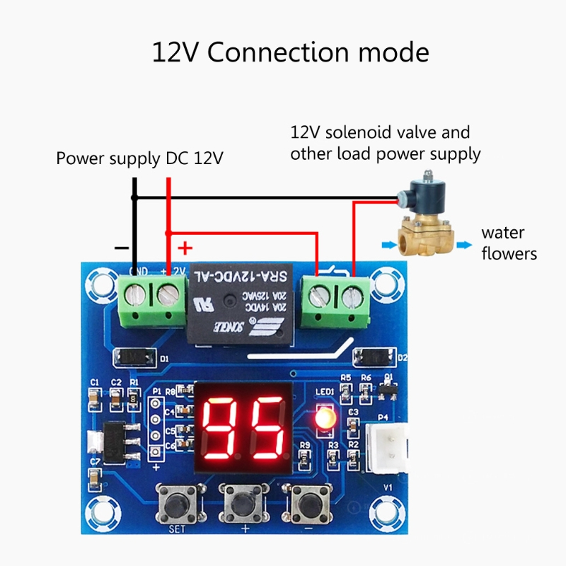 12V Soil Humidity Sensor Controller Irrigation System Automatic Watering Module Z1017