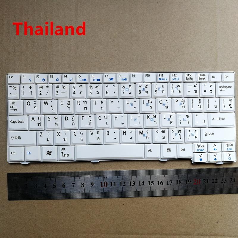 Таиланд макет новая клавиатура для ноутбука acer Aspire ONE ZG5 ZG8 Pro KAV10 KAVAO KAV60 D250 A150 D150 AO531H Английский Белый