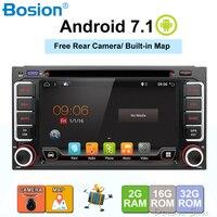 Android 7.1 Quad 4 Core CPU 2 DIN Universal Radio Car DVD GPS stereo For Toyota Corolla Camry Prado RAV4 Hilux VIOS