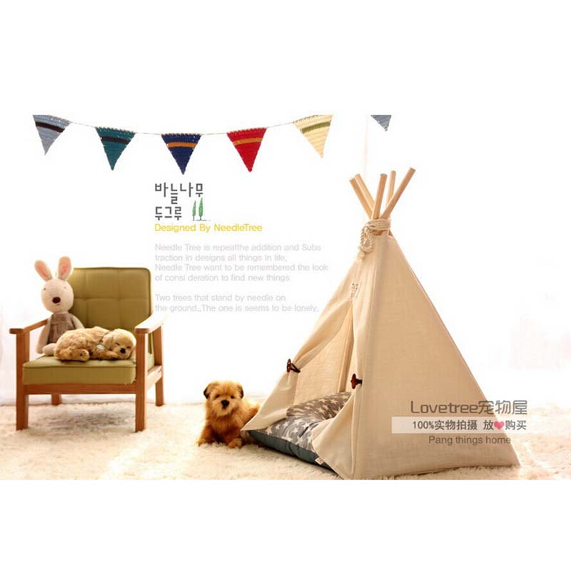Pet Bed Teepee | Chic u0026 Trendy Small Dog Tent | Cat Nap Beds | Stripe Print Tent-in Houses Kennels u0026 Pens from Home u0026 Garden on Aliexpress.com | Alibaba ...  sc 1 st  AliExpress.com & Pet Bed Teepee | Chic u0026 Trendy Small Dog Tent | Cat Nap Beds ...