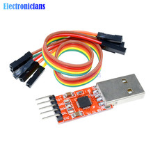 1Set CP2102 Serial Converter USB 2.0 to TTL UART STC Download 5PIN Module With Dupont Line 45x14x8mm