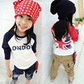 Trendy Girl Tops Kid Long Sleeve T-shirt Cotton Children Clothes Shirt Toddler 2-7Y