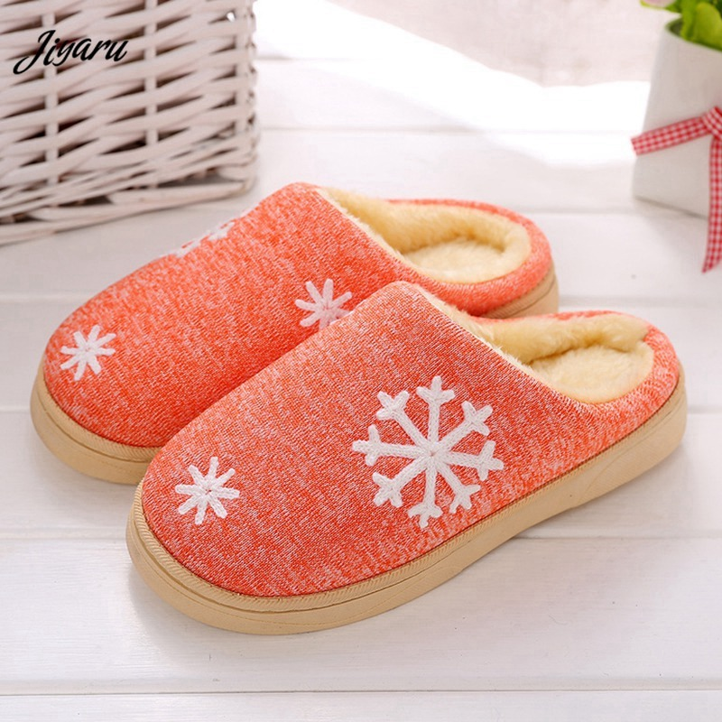 Women Winter Indoor Warm Slippers Women Home Slippers Ladies Indoor Plush House Shoes Couples Shoes Women Slippers for Bedroom darseel shoes women s slippers boa