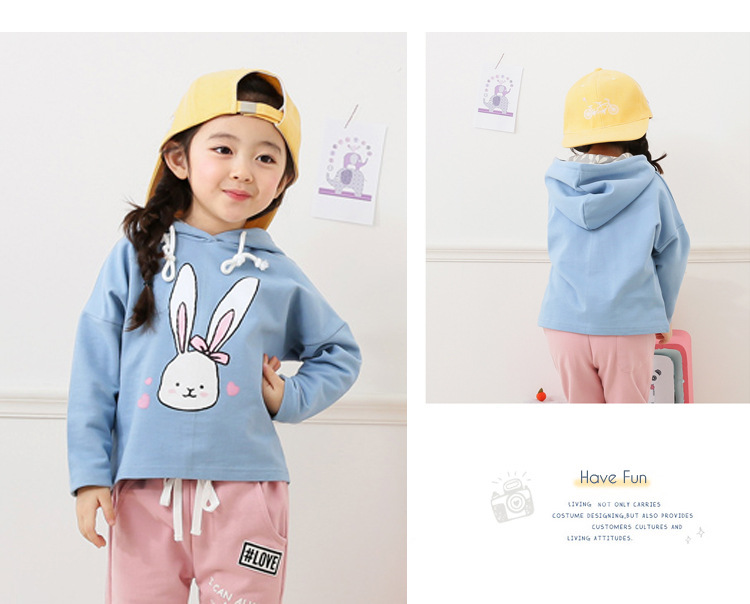baby girl cartoon rabbit printed hoodies sweatshirt children clothing (11)
