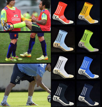 New Football Socks Anti Slip Soccer Socks Men Sports Cotton  Sock Calcetines (The Same Type As The Trusox )