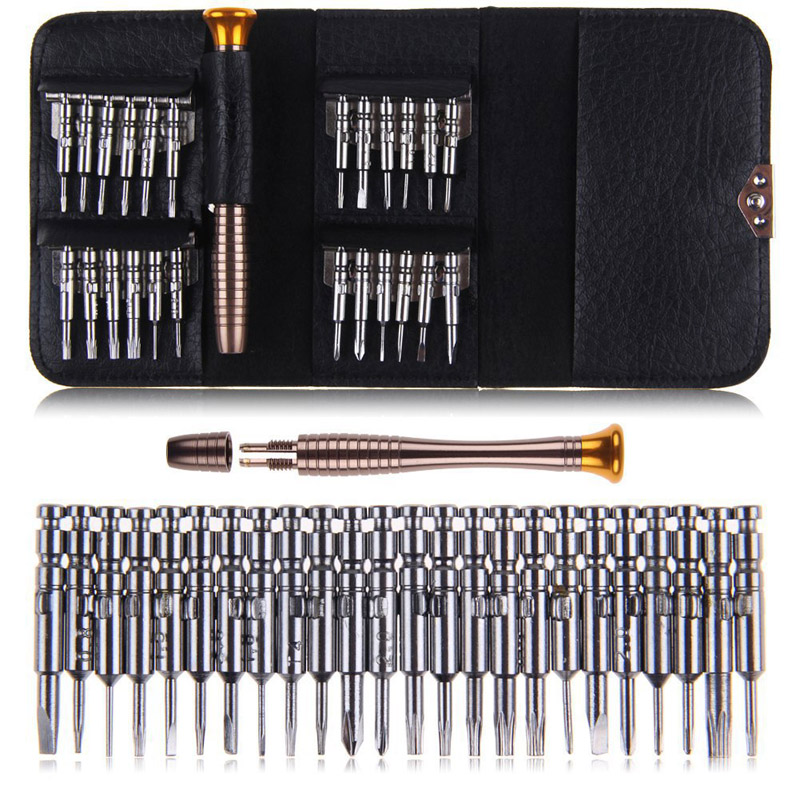 25 IN 1 mobile phone removal tools, maintenance kits, portable screwdriver sets, computers, mobile phone maintenance tools