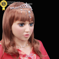 [SF 10]party crossdress masquerade fancy dress costume nightclub Lolita female silicone mask/props with wig